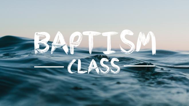 Baptism Information Class